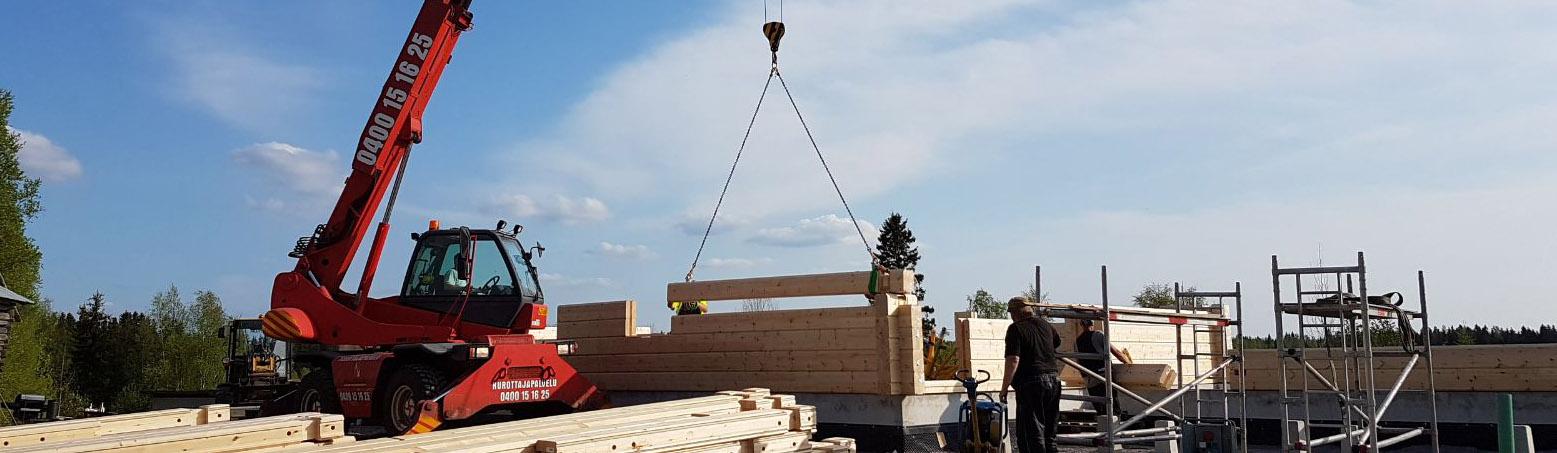 Nostot rakennustyömailla