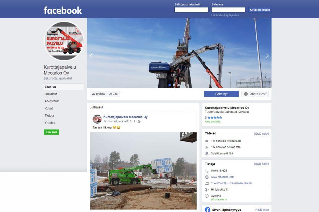 Sosiaalisestamediasta löydät viimeisimmät työnäytteet ja kuulumiset!